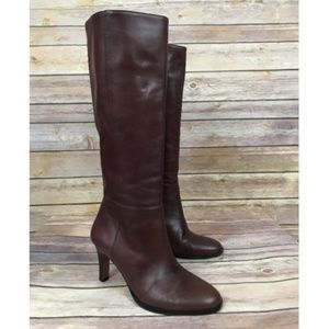Banana Republic Brown Leather High Heel Tall Boots